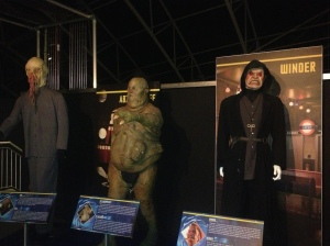 Three of the many alien costumes